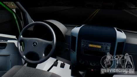 Mercedes-Benz Sprinter ПриватБанк для GTA San Andreas вид сзади