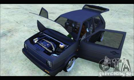 VW Golf MK2 для GTA San Andreas вид справа