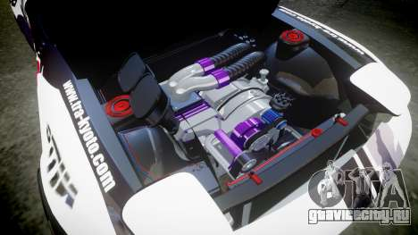 Mazda RX-7 Rocket Bunny MadMake для GTA 4 вид изнутри