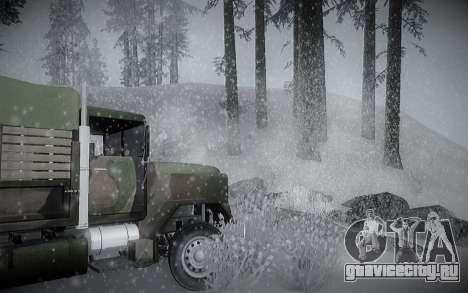 Зимний ENBSeries для GTA San Andreas шестой скриншот