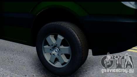 Mercedes-Benz Sprinter ПриватБанк для GTA San Andreas вид справа