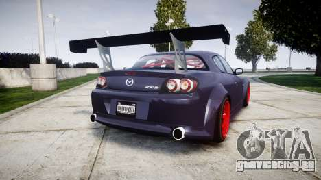 Mazda RX-8 Duck Edition для GTA 4 вид сзади слева
