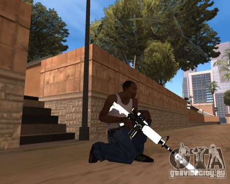 White Chrome Gun Pack для GTA San Andreas восьмой скриншот
