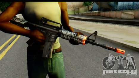 Kill Em All M4 для GTA San Andreas третий скриншот
