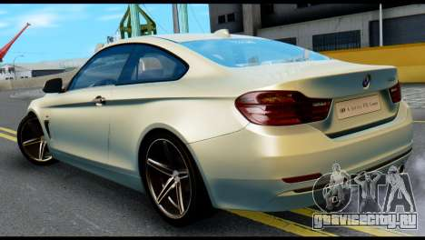 BMW 4-series F32 Coupe 2014 Vossen CV5 V1.0 для GTA San Andreas вид слева
