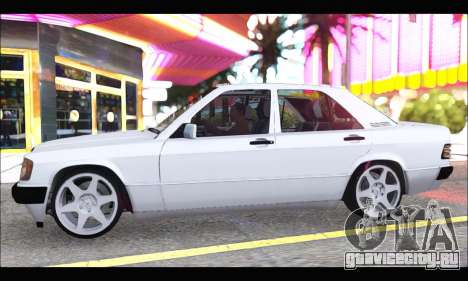 Mercedes Bad-Benz 190E (34 DDK 82) для GTA San Andreas вид сзади слева