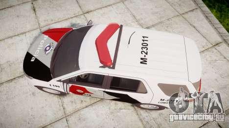 Ford Explorer 2013 Police Forca Tatica [ELS] для GTA 4 вид справа