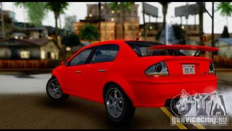 DeClasse Premier from GTA 5 IVF для GTA San Andreas вид слева