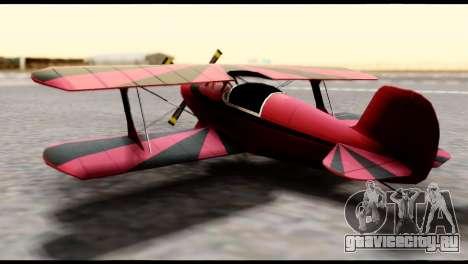 Beta Stuntplane для GTA San Andreas вид сзади слева
