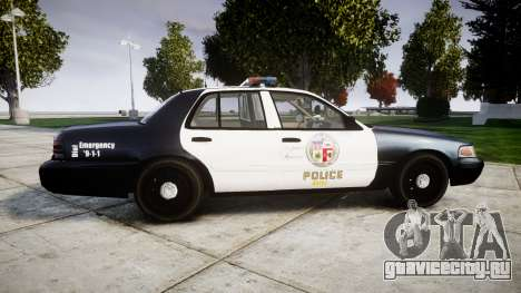 Ford Crown Victoria LAPD [ELS] для GTA 4 вид слева