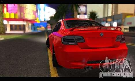BMW M3 GTS 2010 для GTA San Andreas вид сбоку