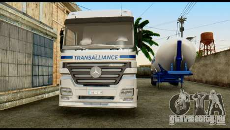 Mercedes-Benz Actros Trailer Transalliance для GTA San Andreas вид сзади