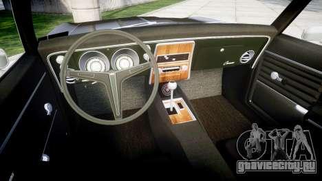 Chevrolet Camaro Mk.I 1968 rims2 для GTA 4 вид сзади