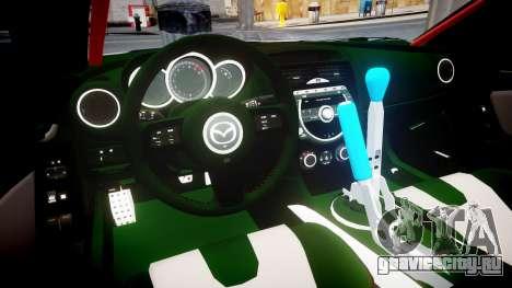 Mazda RX-8 Duck Edition для GTA 4 вид изнутри