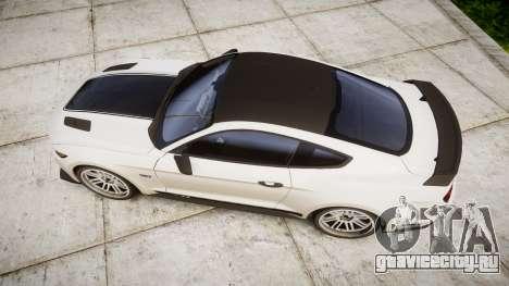 Ford Mustang GT 2015 Custom Kit black stripes gt для GTA 4 вид справа