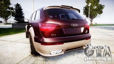Audi Q7 2009 ABT Sportsline [Update] rims2 для GTA 4 вид сзади слева