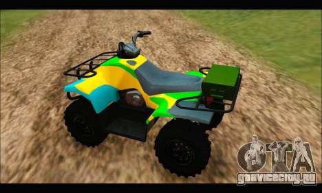 ATV Color Camo Army Edition для GTA San Andreas вид сзади слева