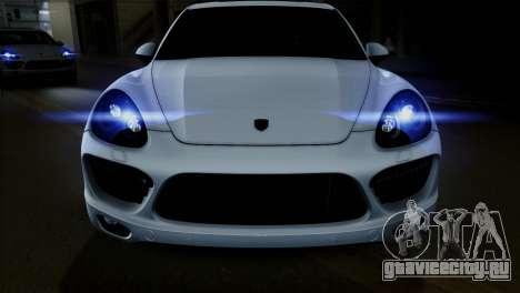 Porsche Cayenne Turbo 2012 для GTA San Andreas вид изнутри