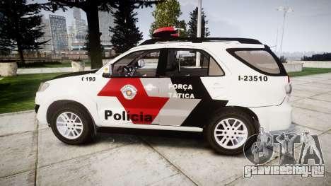 Toyota Hilux SW4 2015 Forca Tatica [ELS] для GTA 4 вид слева