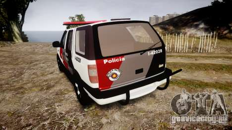 Chevrolet Blazer 2010 Tactical Force [ELS] для GTA 4 вид сзади слева