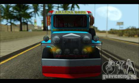 Jeepney Legacy для GTA San Andreas вид слева