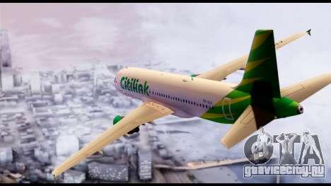 Citilink Airbus A320 PK-GLV для GTA San Andreas вид слева