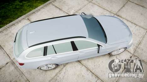 BMW 525d F11 2014 Facelift [ELS] Unmarked для GTA 4 вид справа