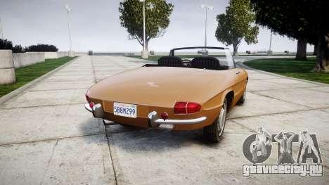 Alfa Romeo Spider 1966 для GTA 4 вид сзади слева