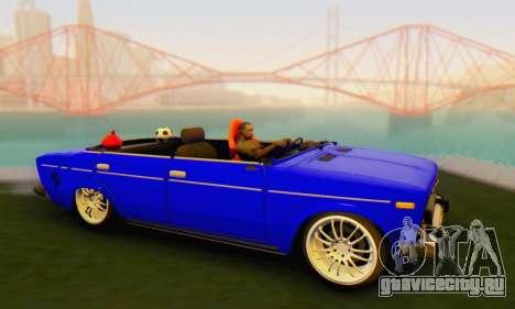 VAZ 2106 Convertible для GTA San Andreas вид сзади слева