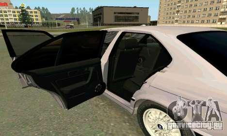 BMW 525 Turbo для GTA San Andreas вид изнутри