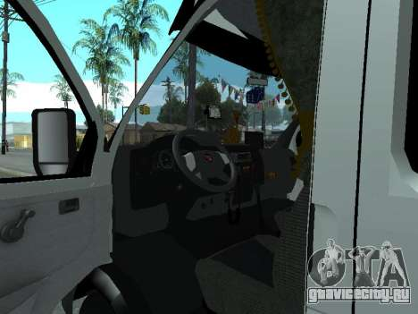 ГАЗель 33023 Фермер для GTA San Andreas вид сзади