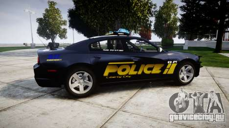 Dodge Charger RT 2013 LCPD [ELS] для GTA 4 вид слева