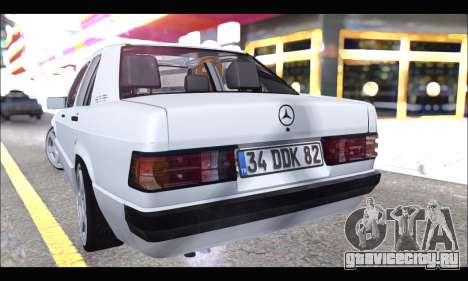 Mercedes Bad-Benz 190E (34 DDK 82) для GTA San Andreas вид справа