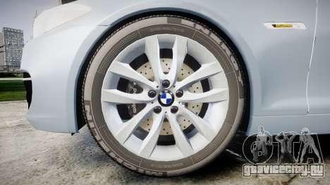 BMW 525d F11 2014 Facelift [ELS] Unmarked для GTA 4 вид сзади