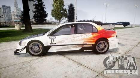 Mitsubishi Lancer Evolution IX HQ для GTA 4 вид слева