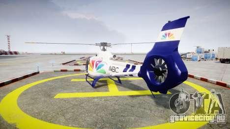 Eurocopter EC130 B4 NBC для GTA 4 вид сзади слева