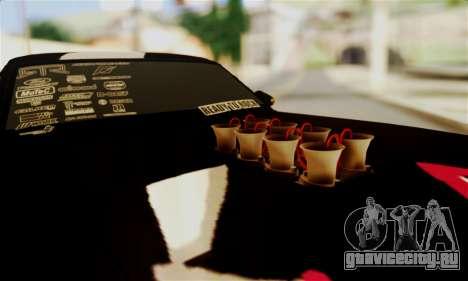 Ford Mustang RTR RedBull для GTA San Andreas вид изнутри