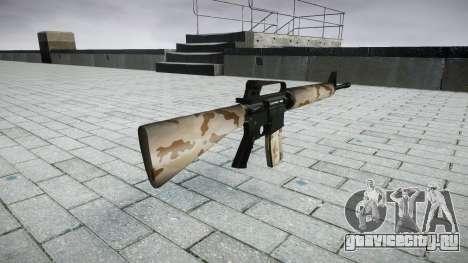 Винтовка M16A2 sahara для GTA 4 второй скриншот