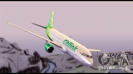 Citilink Airbus A320 PK-GLV для GTA San Andreas