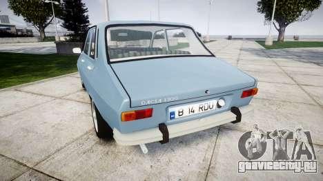 Dacia 1300 v2.0 для GTA 4 вид сзади слева