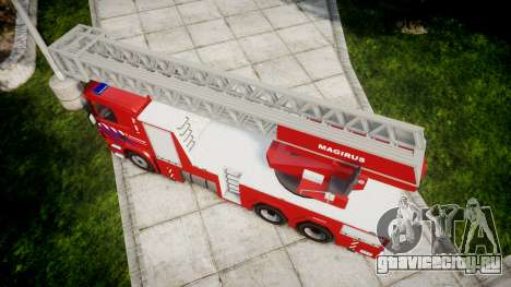 Scania R580 Dutch Fireladder [ELS] для GTA 4 вид справа