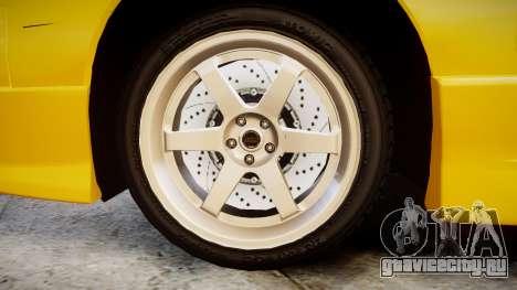 Nissan Onevia S14 для GTA 4 вид сзади