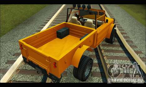 Canis Bodhi (GTA V) для GTA San Andreas вид сзади