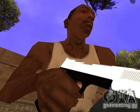 White Chrome Gun Pack для GTA San Andreas