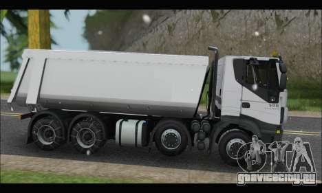 Iveco Trakker 2014 Tipper Snow для GTA San Andreas вид слева