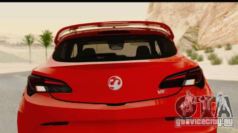 Vauxhall Astra VXR для GTA San Andreas вид сбоку