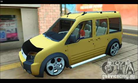 Ford Transit Connect для GTA San Andreas вид слева