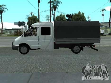 ГАЗель 33023 Фермер для GTA San Andreas вид сзади слева