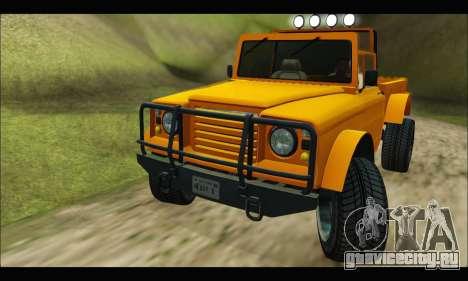 Canis Bodhi (GTA V) для GTA San Andreas вид сзади слева