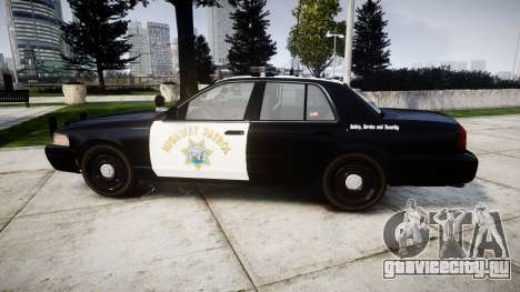 Ford Crown Victoria Highway Patrol [ELS] Liberty для GTA 4 вид слева